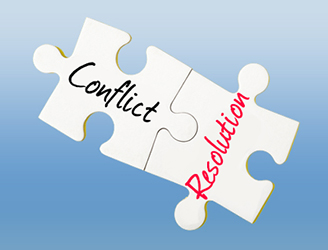 conflict and resolution puzzle piece
